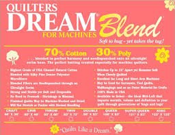 QUILTERS DREAM Blend Select/Midloft 70% Cotton/30% Poly - Craft Size