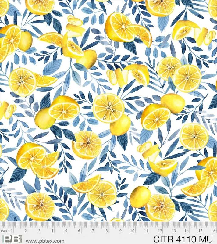Citrus Sayings - All Over Lemons White