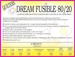 QUILTERS DREAM FUSION 80/20 CRAFT