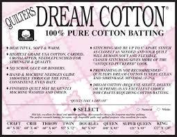 QUILTERS DREAM White Cotton Select  Light Loft Queen Size 108 x 93