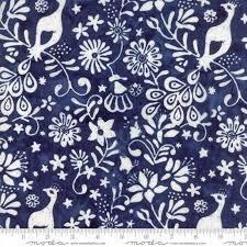 BATIKS - LONGITUDE RAYON DEEP BLUE
