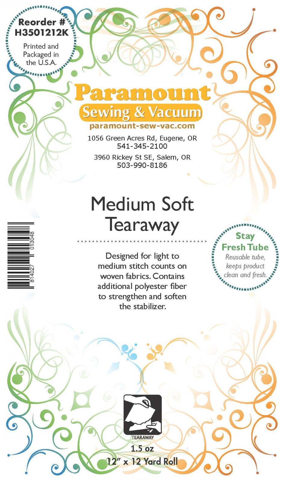 Paramount Stabilizer: Medium Soft Tearaway