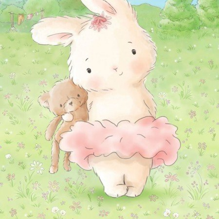 Bunnies By the Bay - Bunny and her Bear 24 Panel