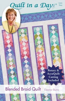 Blended Braid Quilt for Rotary and AccuQuilt