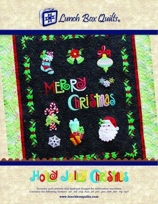 LBQ - Holly Jolly Christmas Applique Embroidery Quilt