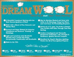 QUILTERS DREAM Wool Double 96 x 93 pkg