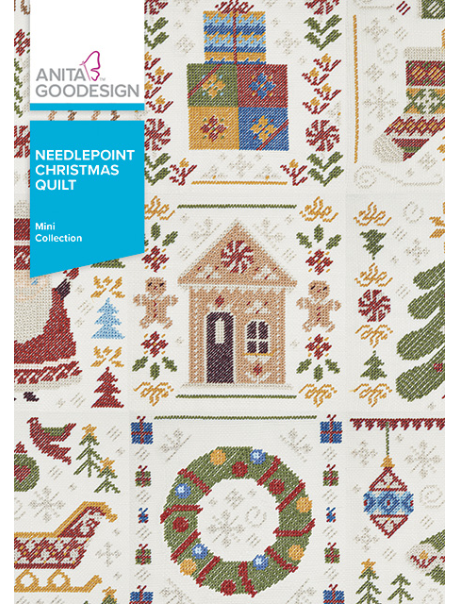 ANITA GOODESIGNS Needlepoint Christmas Quilt
