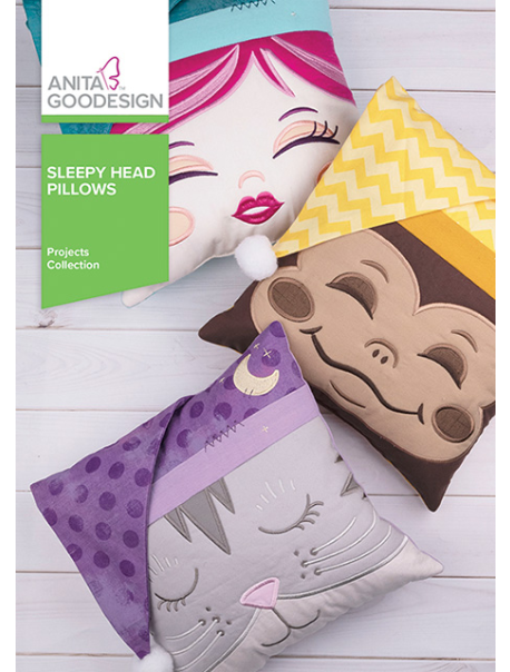 ANITA GOODESIGNS  Sleepy Head Pillows