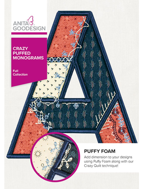 ANITA GOODESIGN  Crazy Puffed Monograms