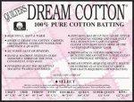 QUILTERS DREAM Natural Cotton Select MidLoft Double Size 96 x 93