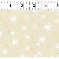 Home for Christmas - Light Khaki Snowflakes/Cotton