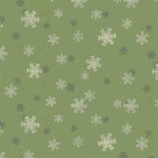 FABRIC Home for Christmas - Olive Snowflakes/Cotton