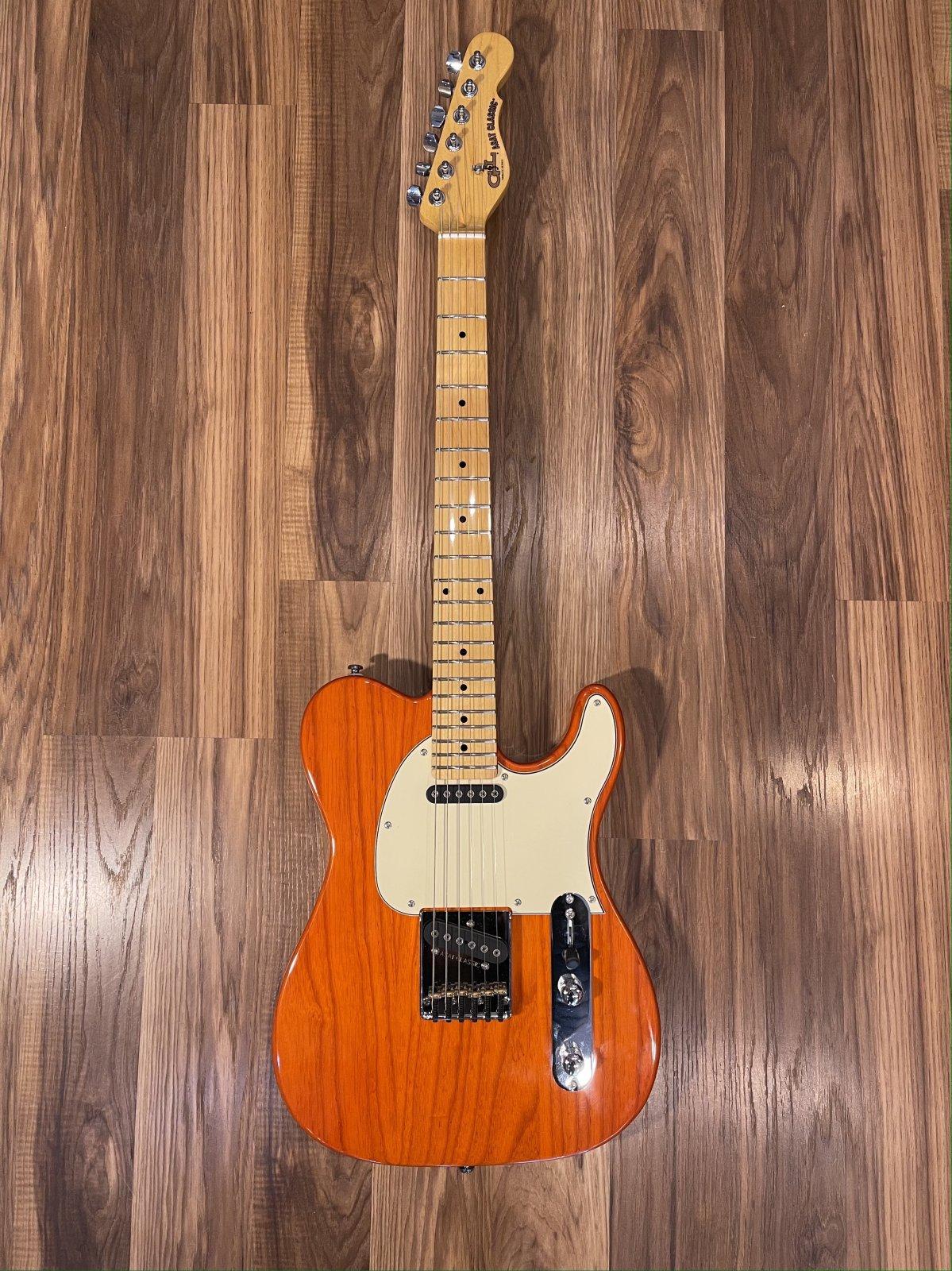 G&L Tribute Series ASAT Classic Clear Orange