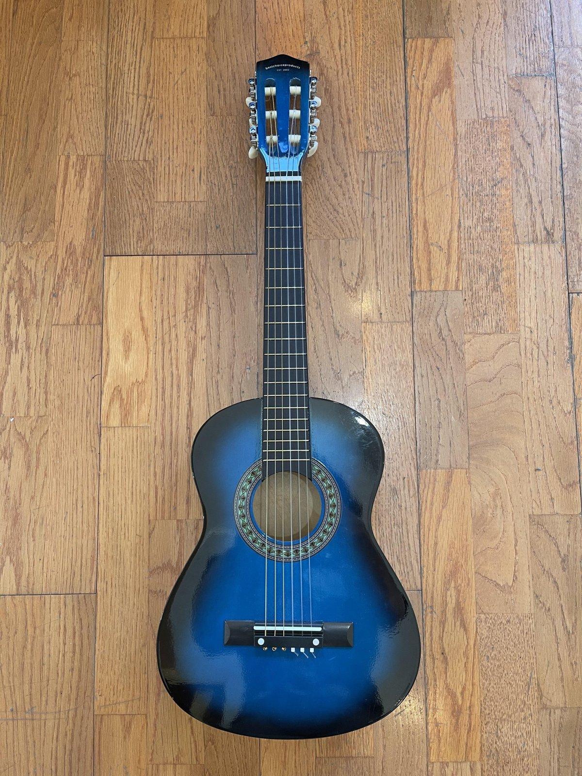 Best Choice Beginner Blue Children's Guitar