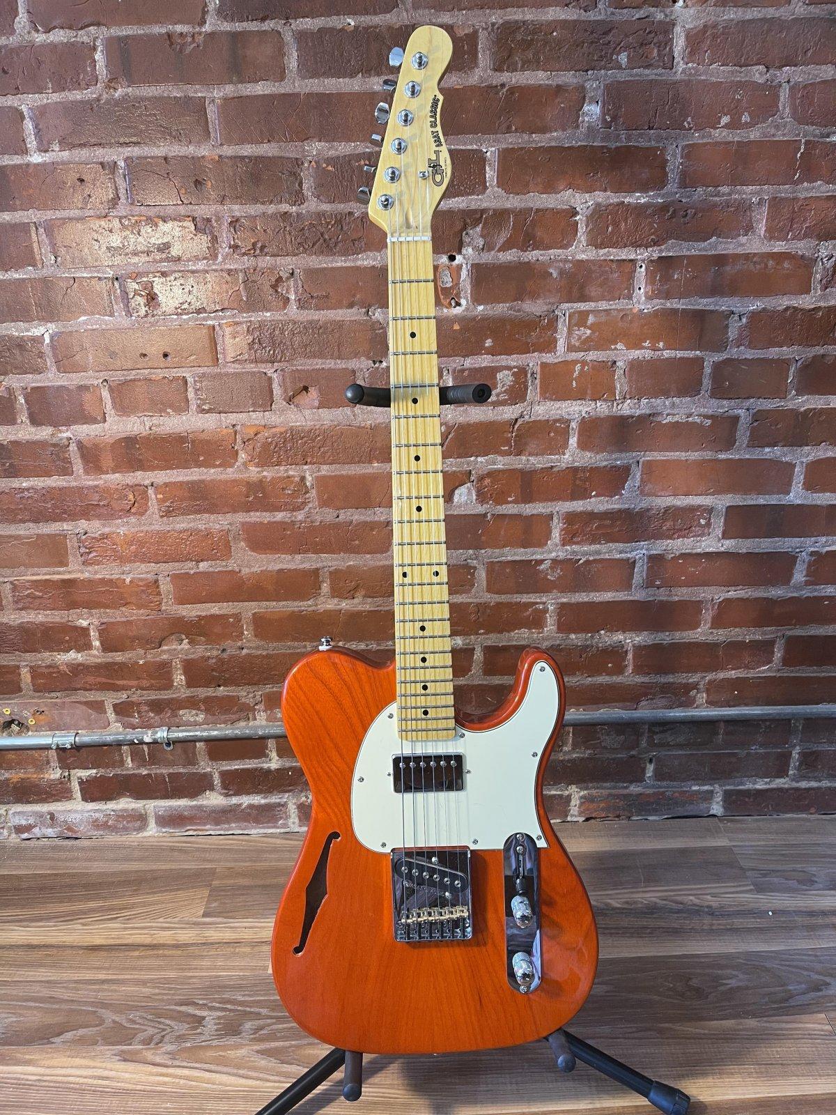 G&L ASAT Classic Bluesboy Semi-Hollow Orange
