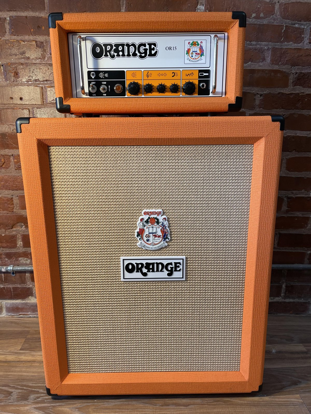 Orange OR15 Head and 2x12 Matching Cabinet