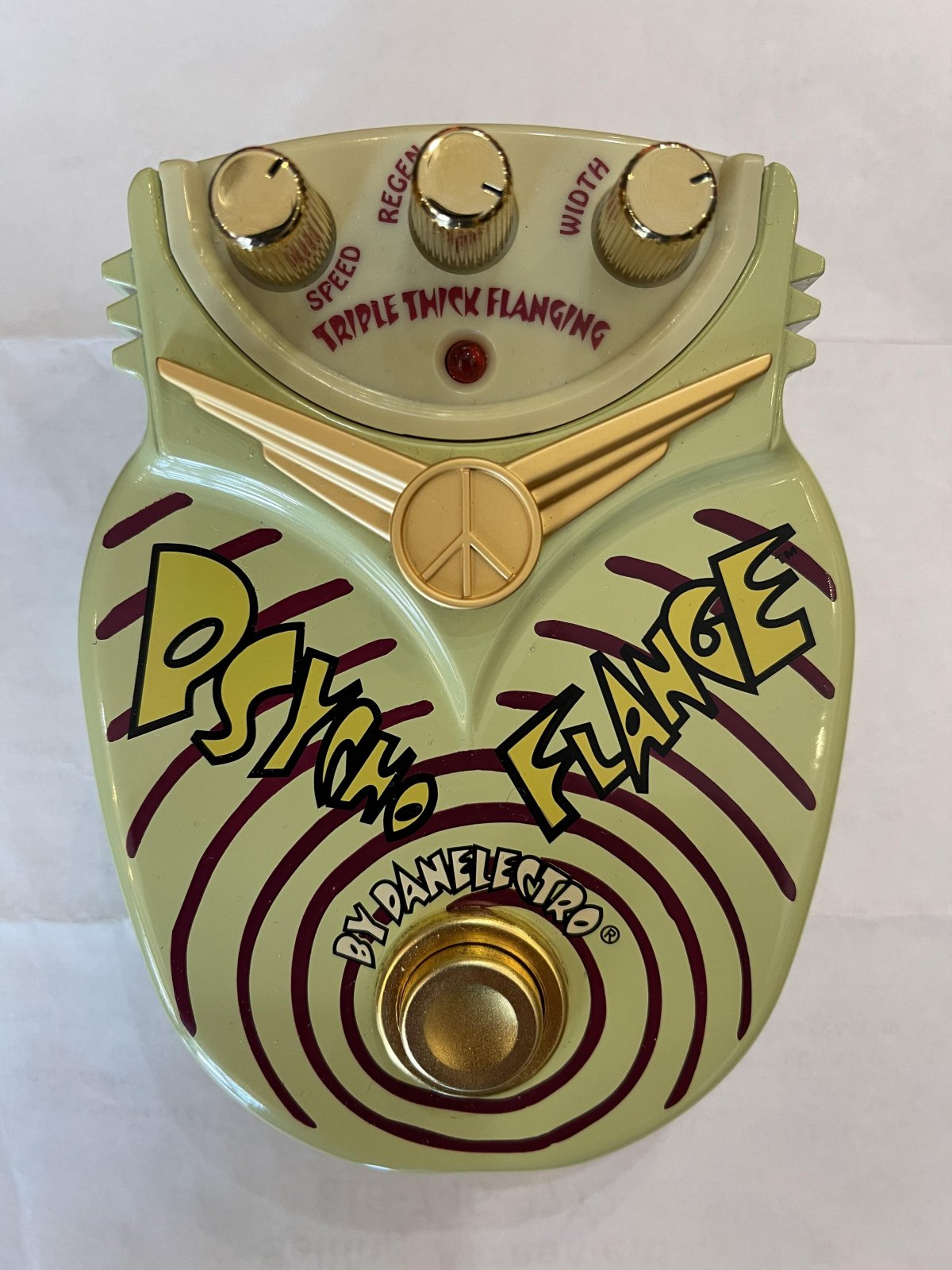 Danelectro Psycho Flange Pedal w/power supply