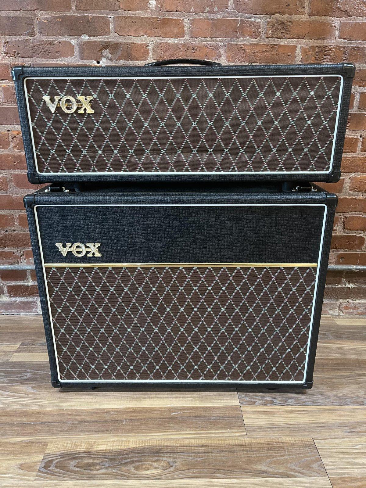 Vox AC30CH Custom 2-Channel 30 Watt Guitar Amp Head w/Matching V212C Celestion Greenback Cabinet