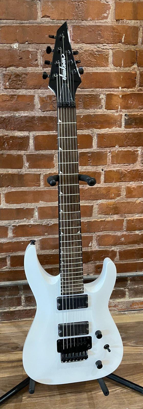 Jackson SLATXSD 3-7 7-String Electric Guitar (Snow White)