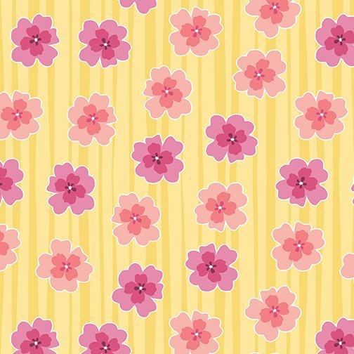 Floral Strip Yellow
