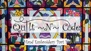 1st Hand Embroidery Video