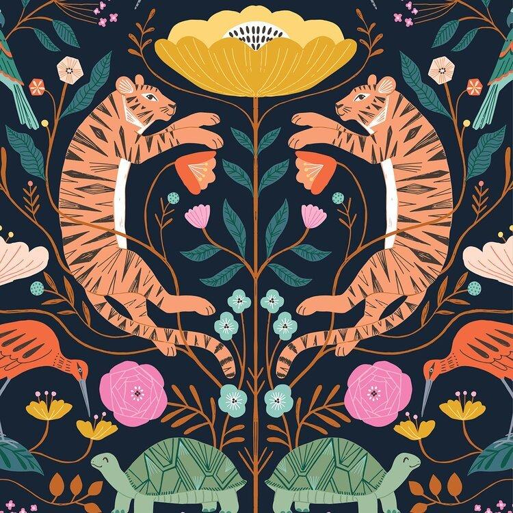 Dashwood Studio - Our Planet -Tiger on White