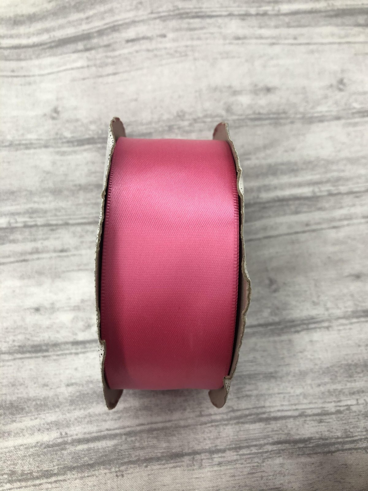 Supreme Lace Inc. Double Face Satin Bright Pink Ribbon 25M