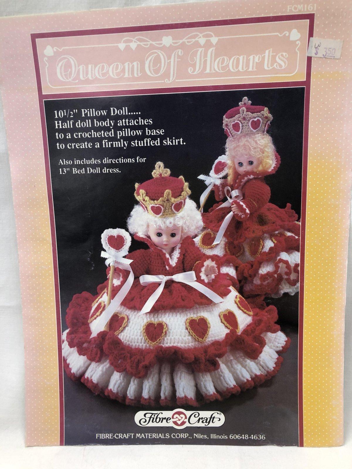 Queen of Hearts Crochet Pillow Doll
