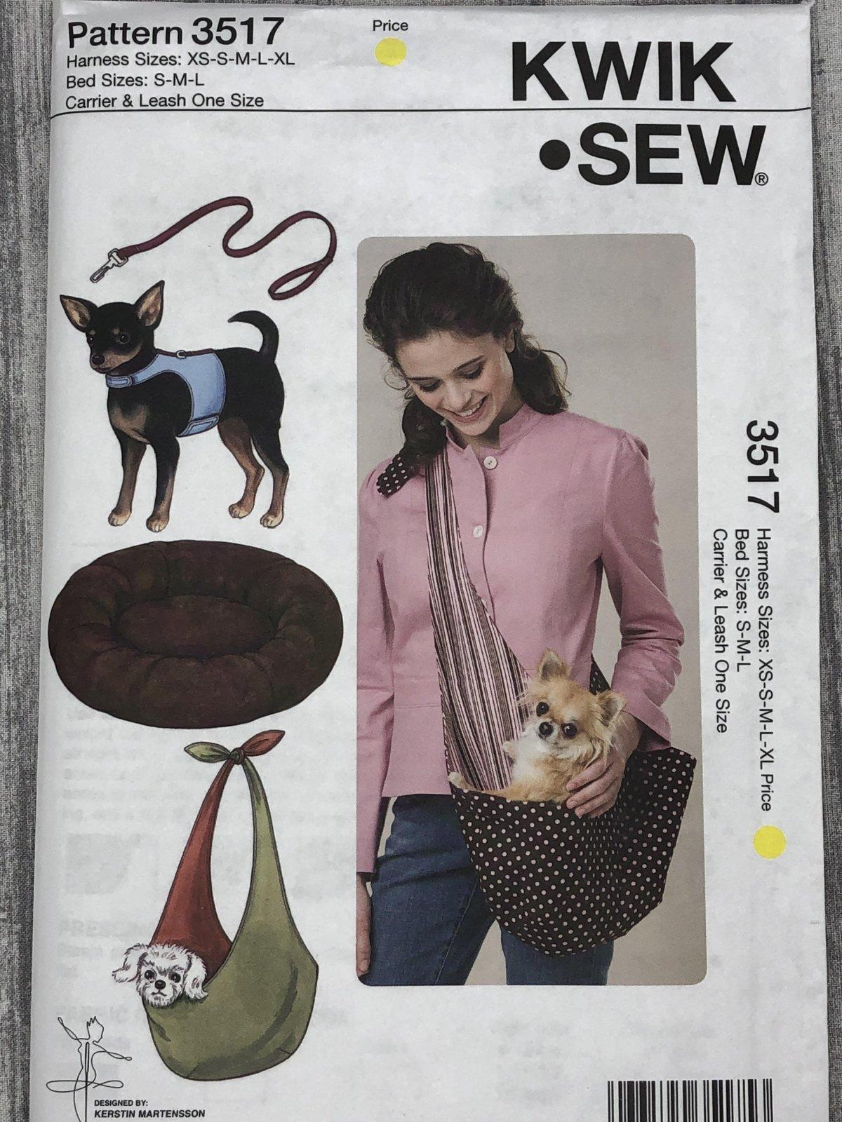 Kwik Sew 3517 Harness Sizes XS-XL Bed Sizes S-L