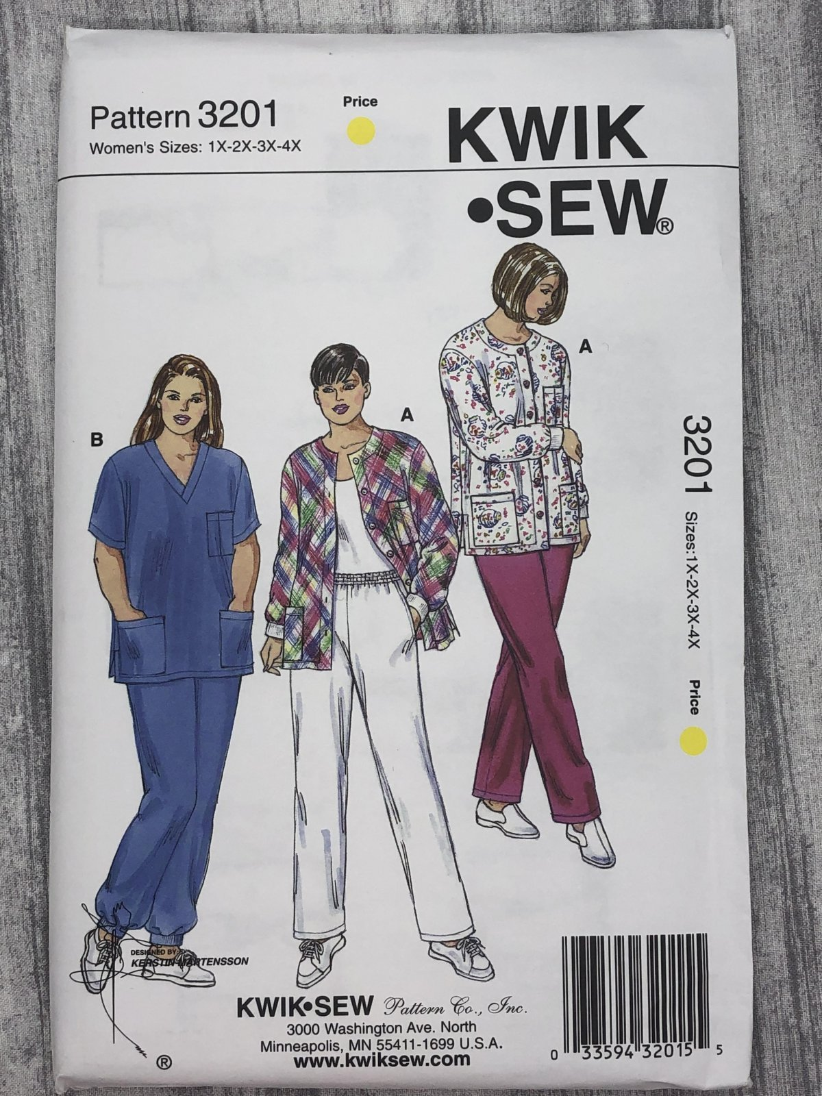 Kwik Sew 3201 Sizes 1X-4X