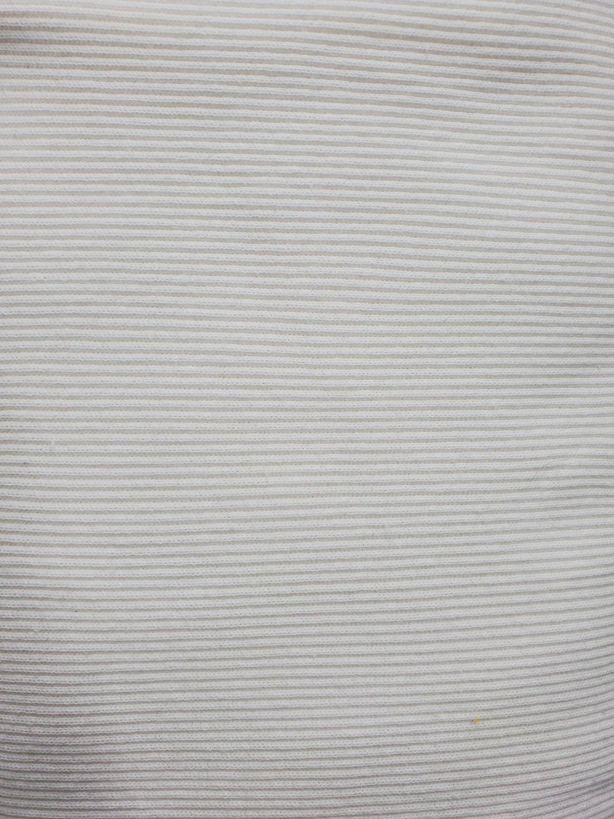 Siltex White Bubble Rib Knit 20-1910-WHTE