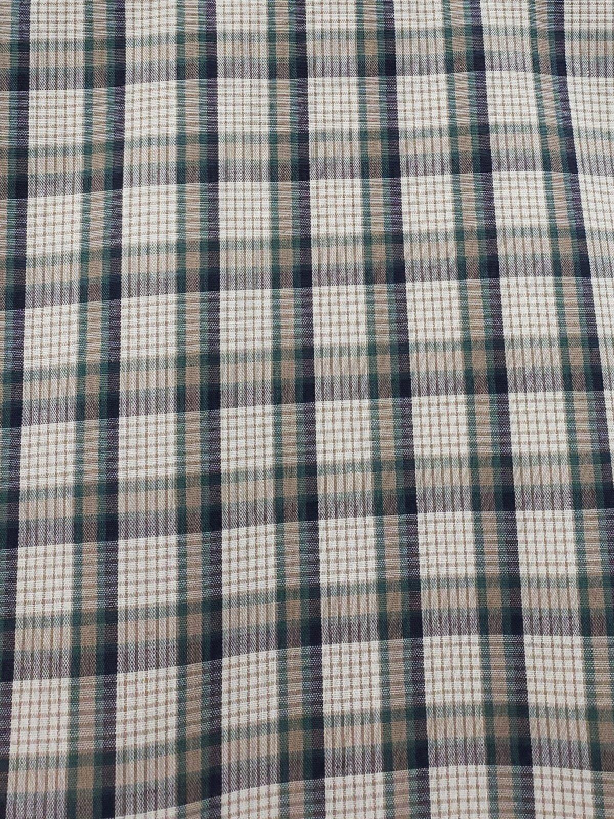 Blue Green Plaid 115cm 65%Polyester/35%Cotton 01043758