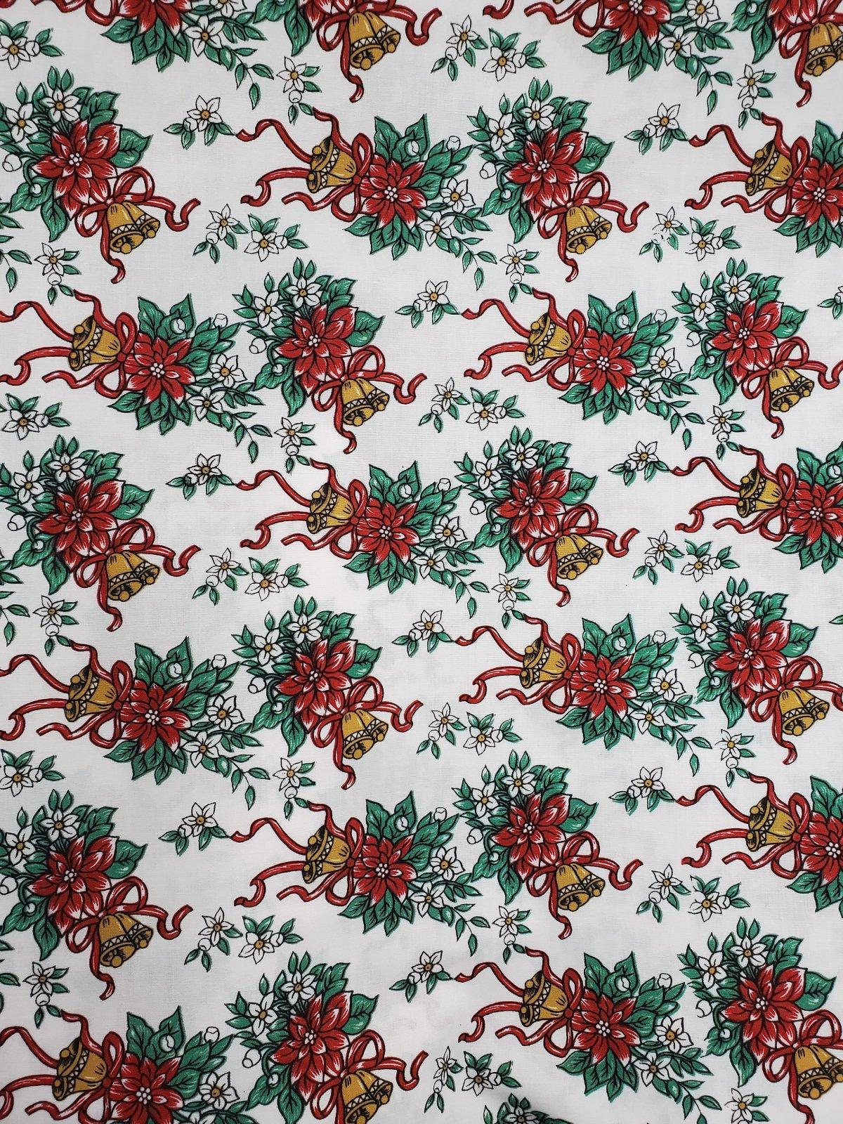 Christmas Jingle Bells 115cm 65%Polyester/35%Cotton 456-1 07972506