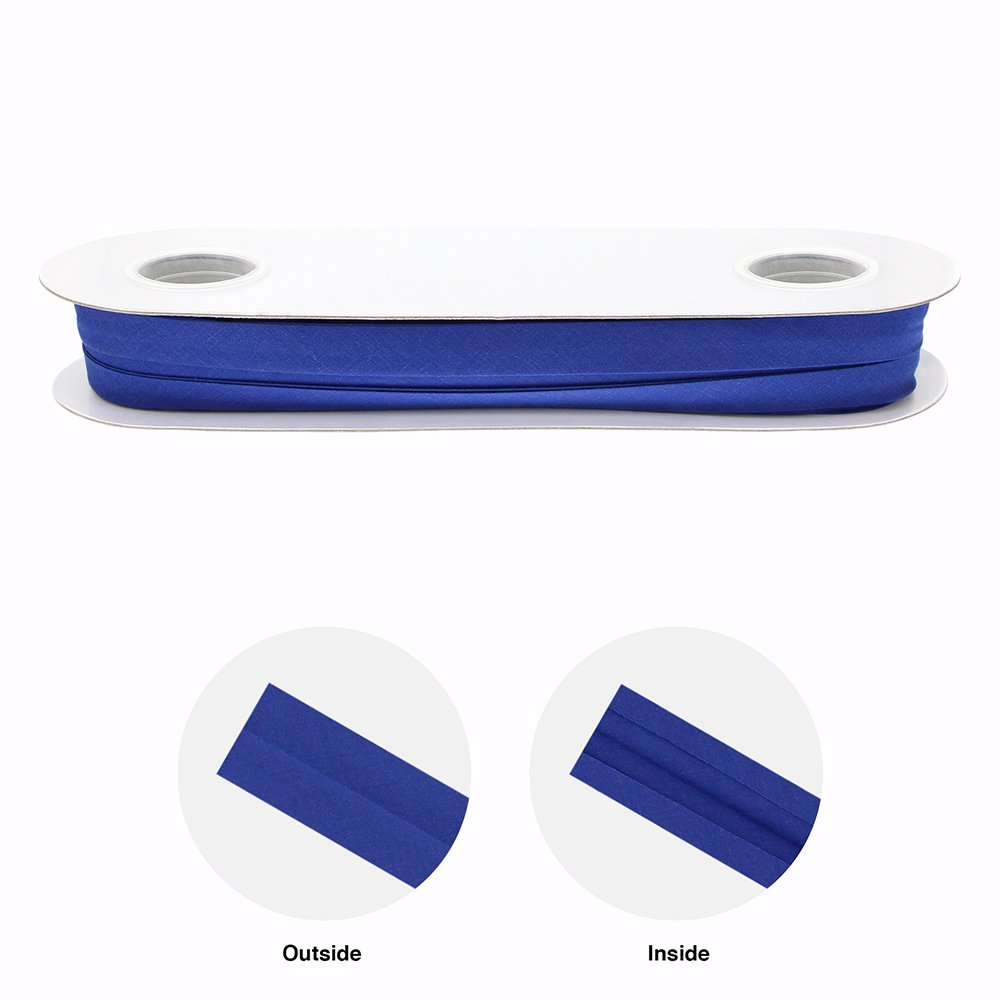 UNIQUE Extra Wide Double Fold Bias Tape 16mm - Royal