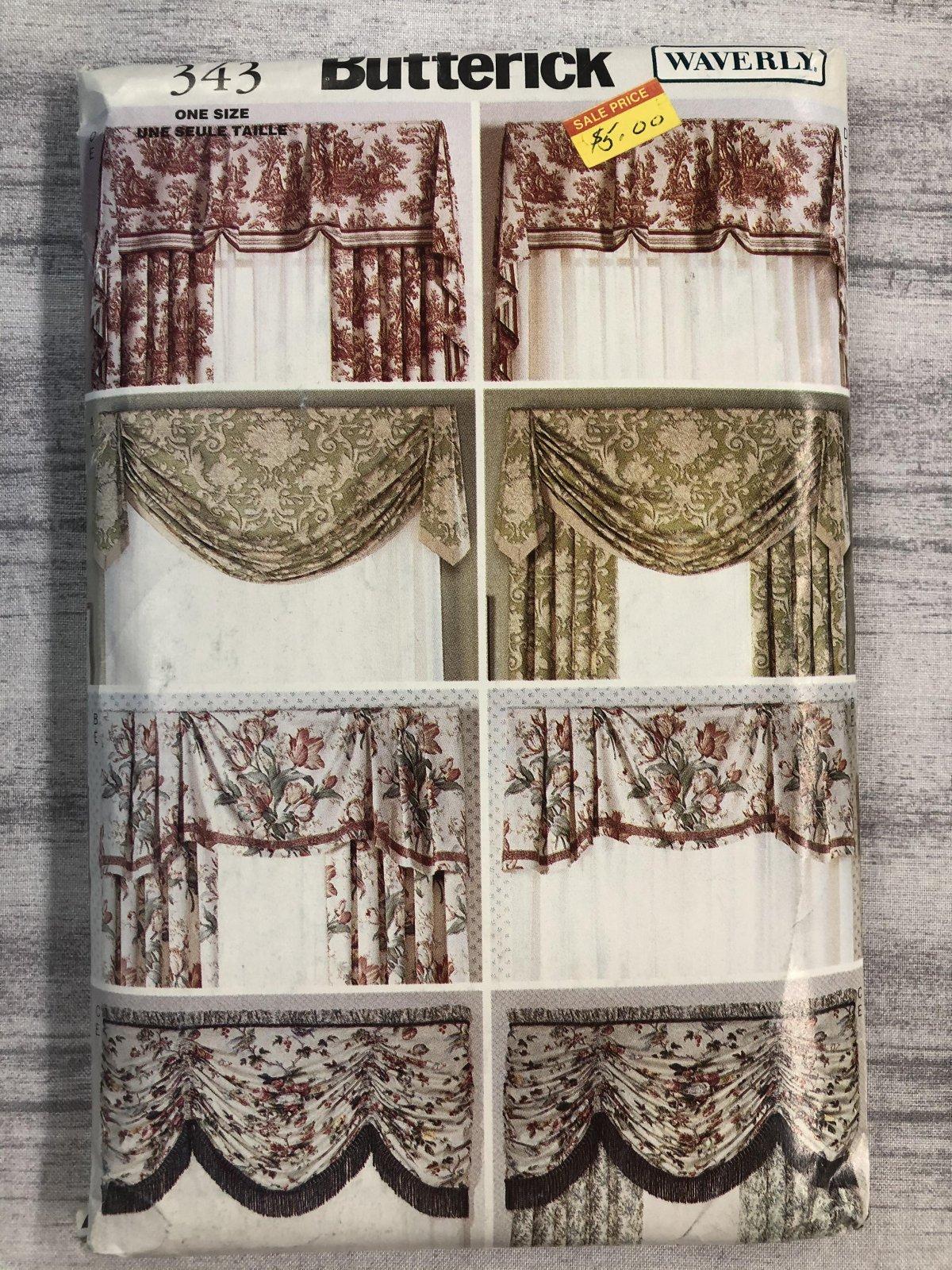 Butterick Waverly Window Treatments 0343