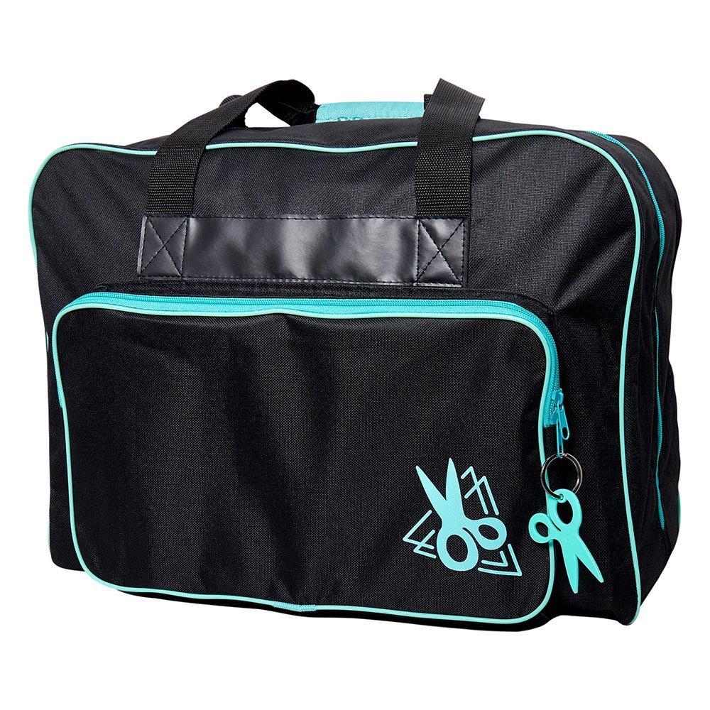 SEW EASY Sewing Machine Tote Bags - Black & Turquoise - 44 x 20 x 38cm (17 1/4? x 7 7/8? x 15?)