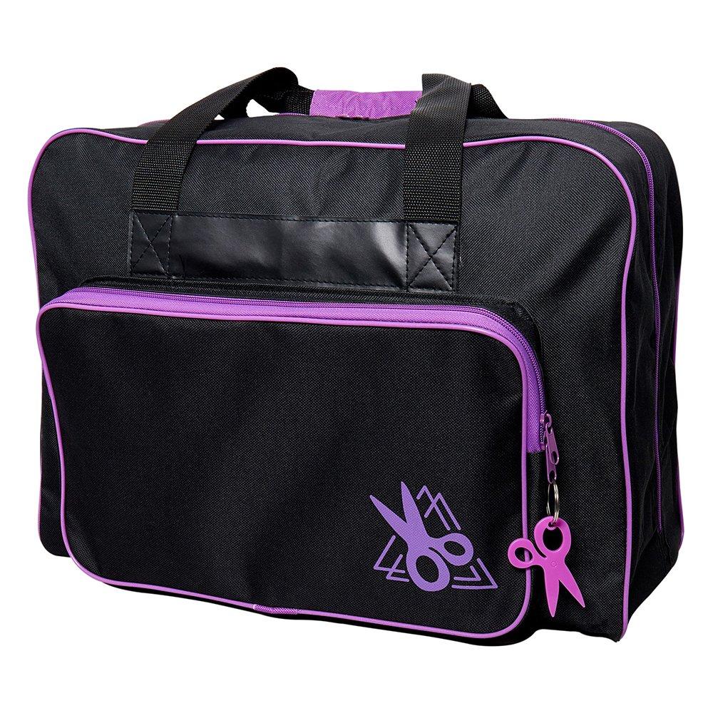 SEW EASY Sewing Machine Tote Bags - Black & Purple - 44 x 20 x 38cm (17 1/4? x 7 7/8? x 15?)