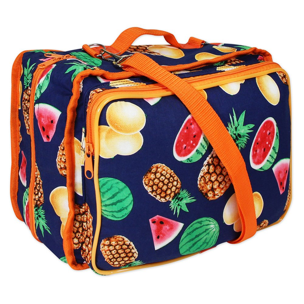 VIVACE Craft/Accessories Tote - Tropical Fruits - 33 x 25 x 13cm (13? x 10? x 5?)