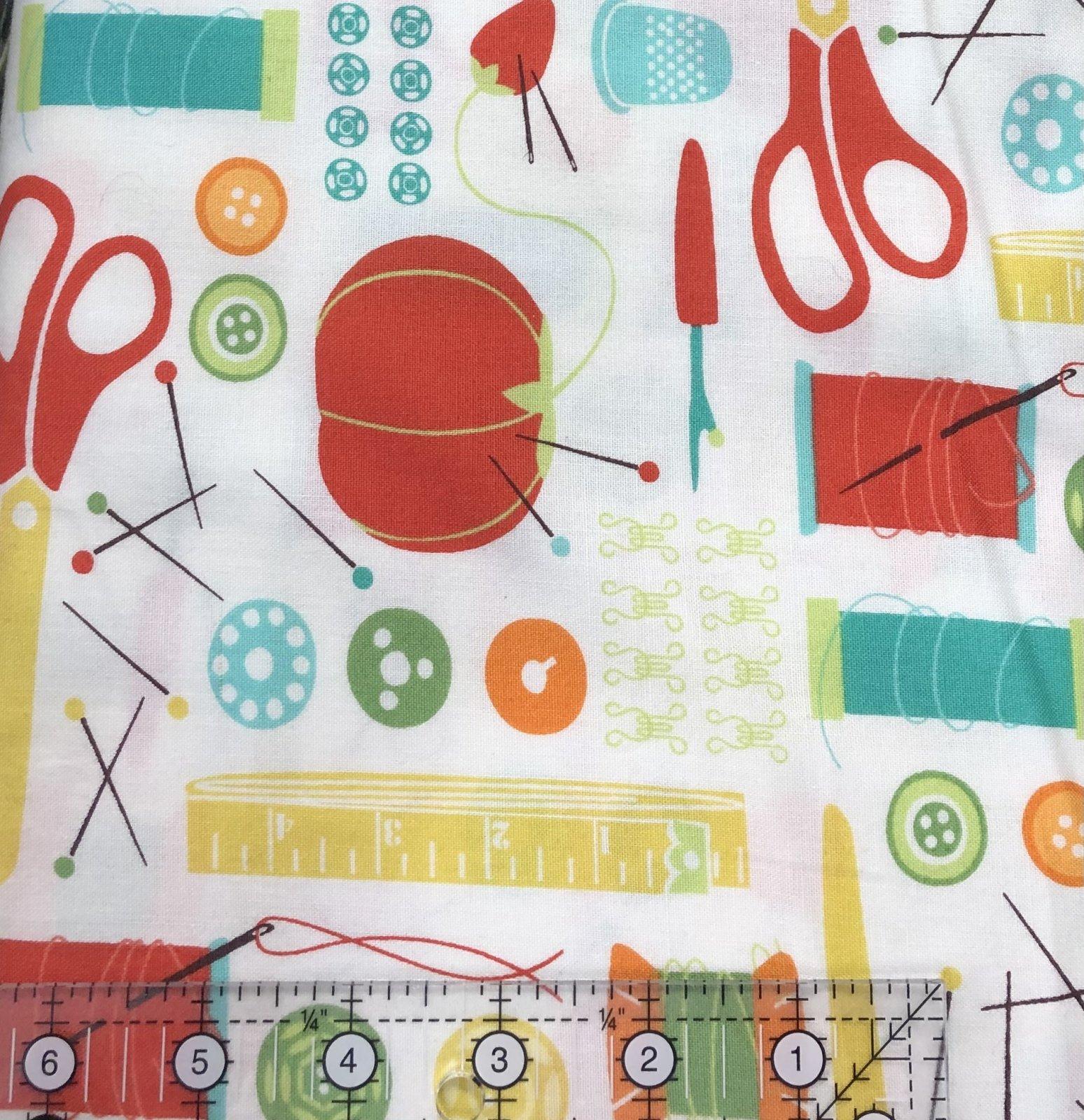 1 Meter Cut - Moda Fabrics Sewing Box 10010