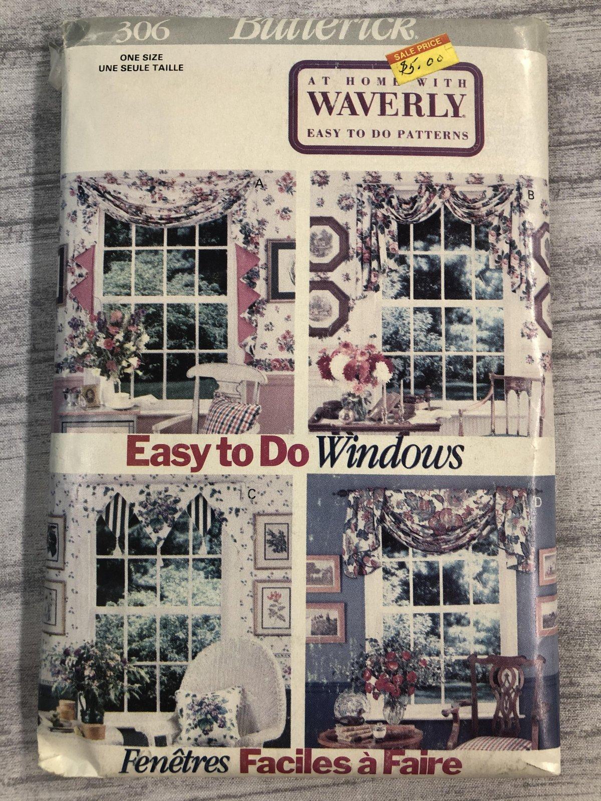Butterick Waverly Window Scraves 0306