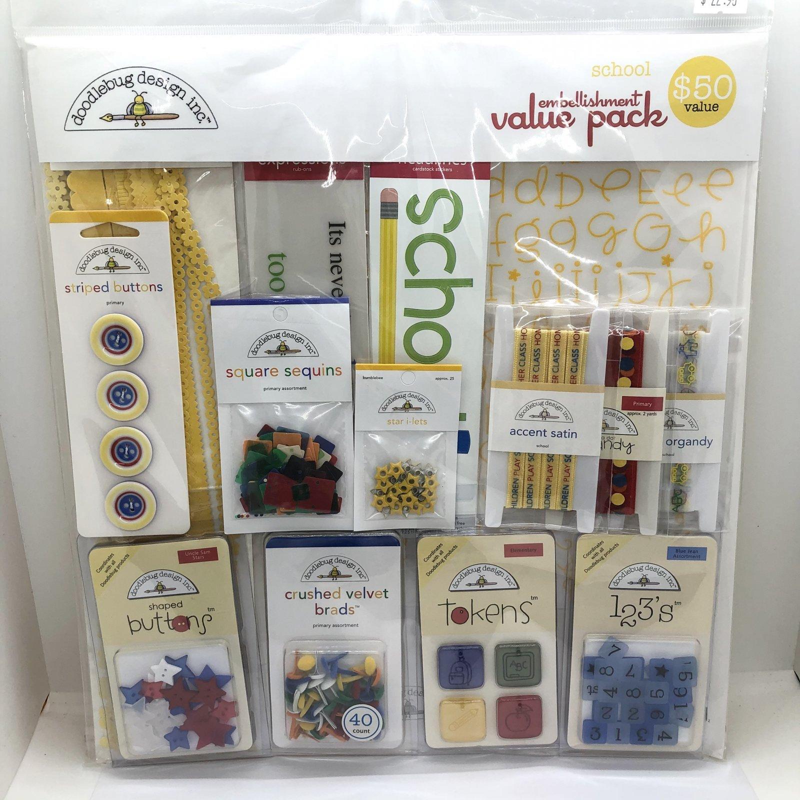 Doodlebug Design School Embellishment Value Pack