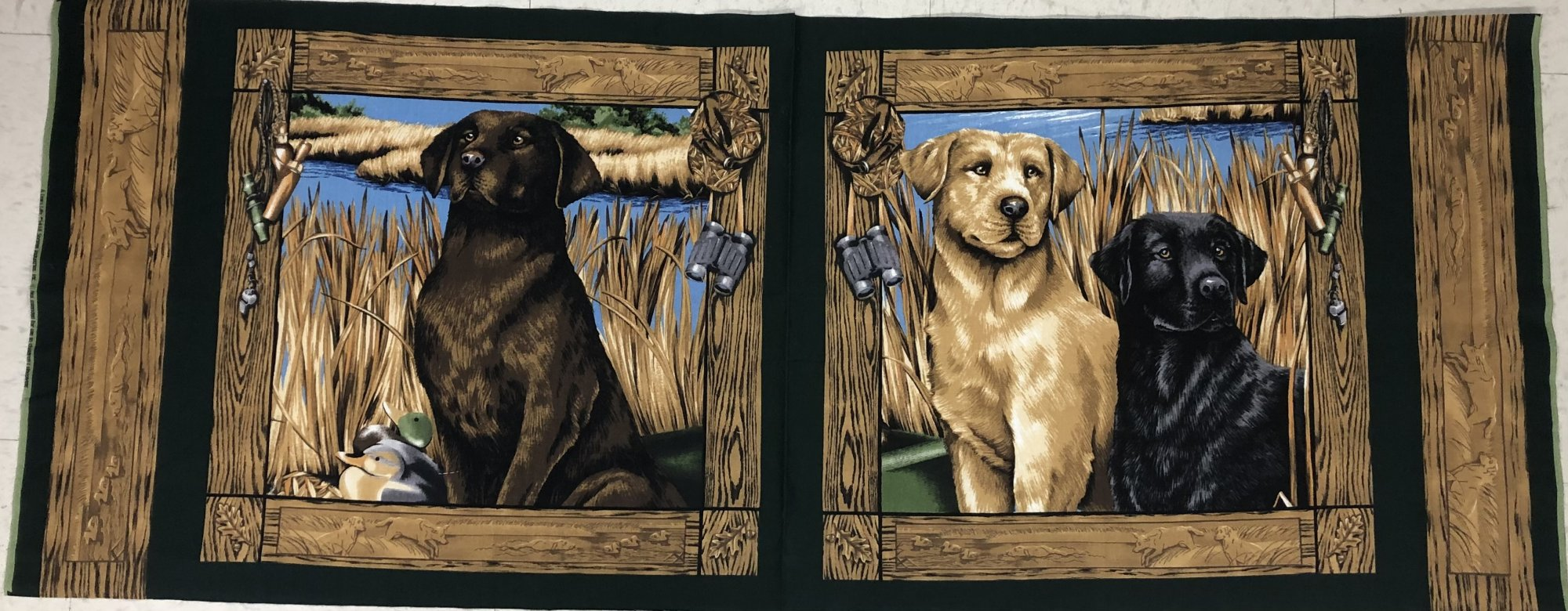 Springs Industries - A Dog's Life - Retriever / Hunting Dog - 17.5 Panel