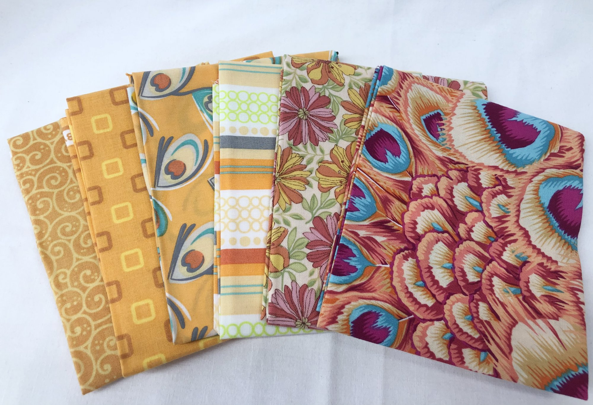 Fat Quarter Pack - 6pcs/bundle - In store - Orange