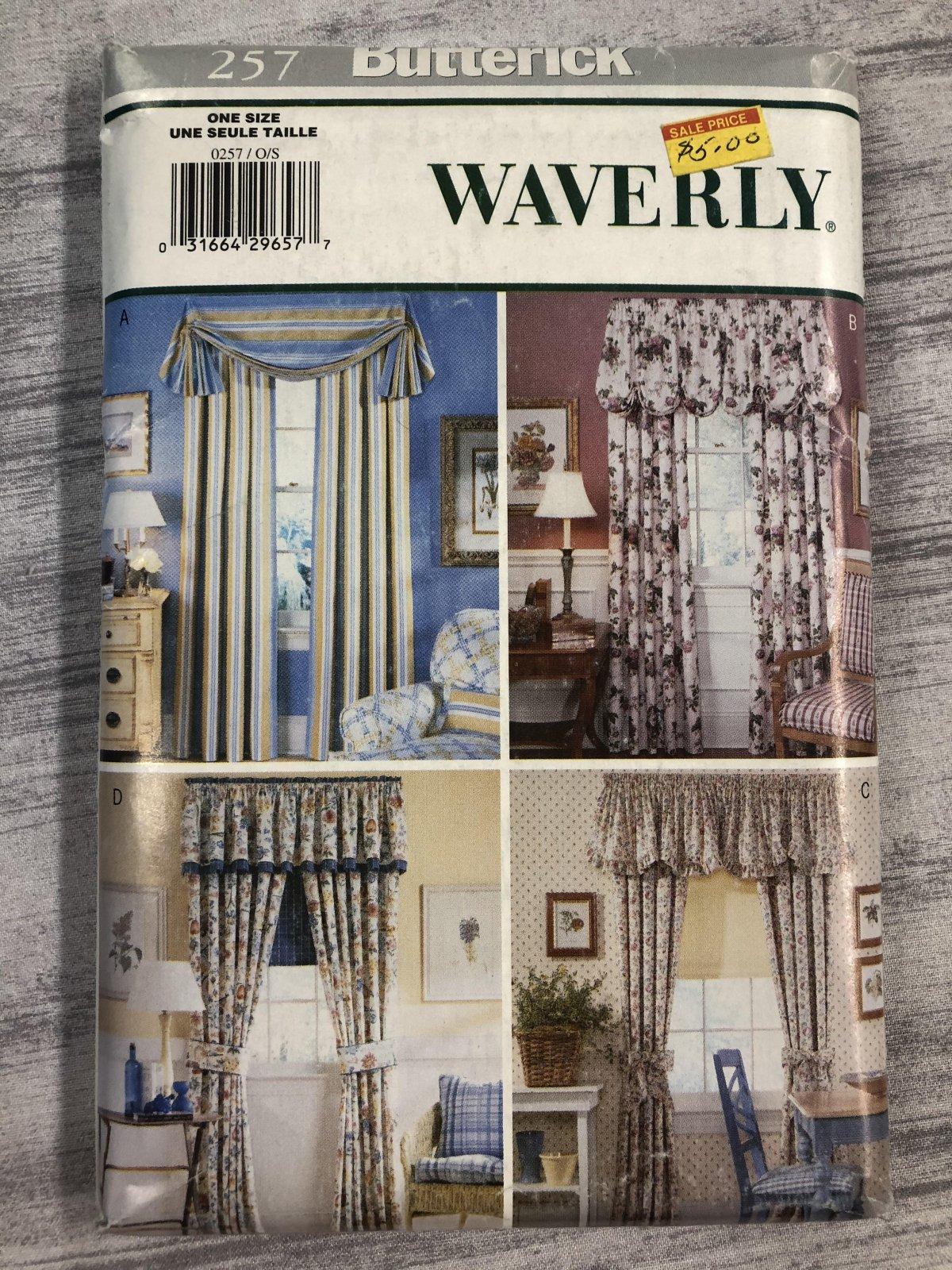 Butterick Waverly Window - Drapes & Valences 0257