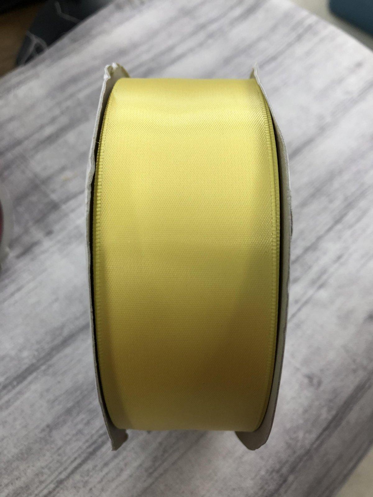 Lemon Single Face Satin Ribbon 1 1/2 IN