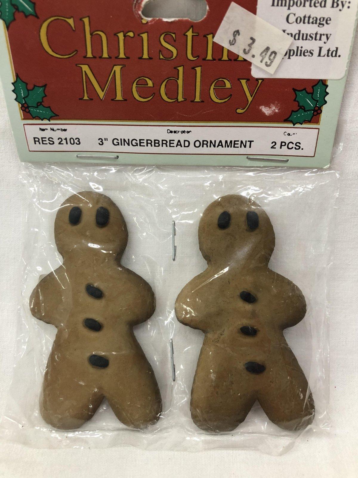 Christmas Medley Gingerbread Man Ornament 717656099875