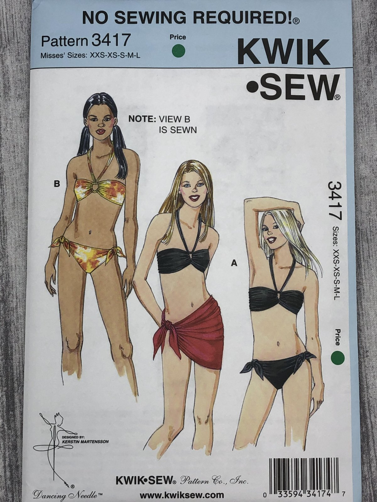 Kwik Sew 3417 Sizes XS-XL