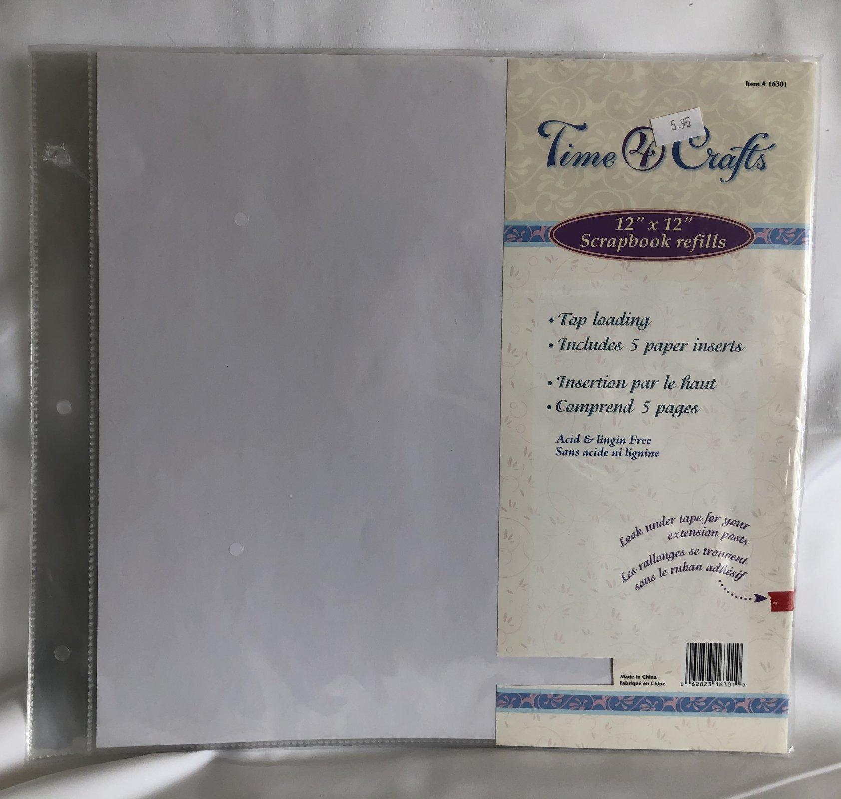 Time 4 Crafts 12 x 12 Scrapbook Refills - 5pk.