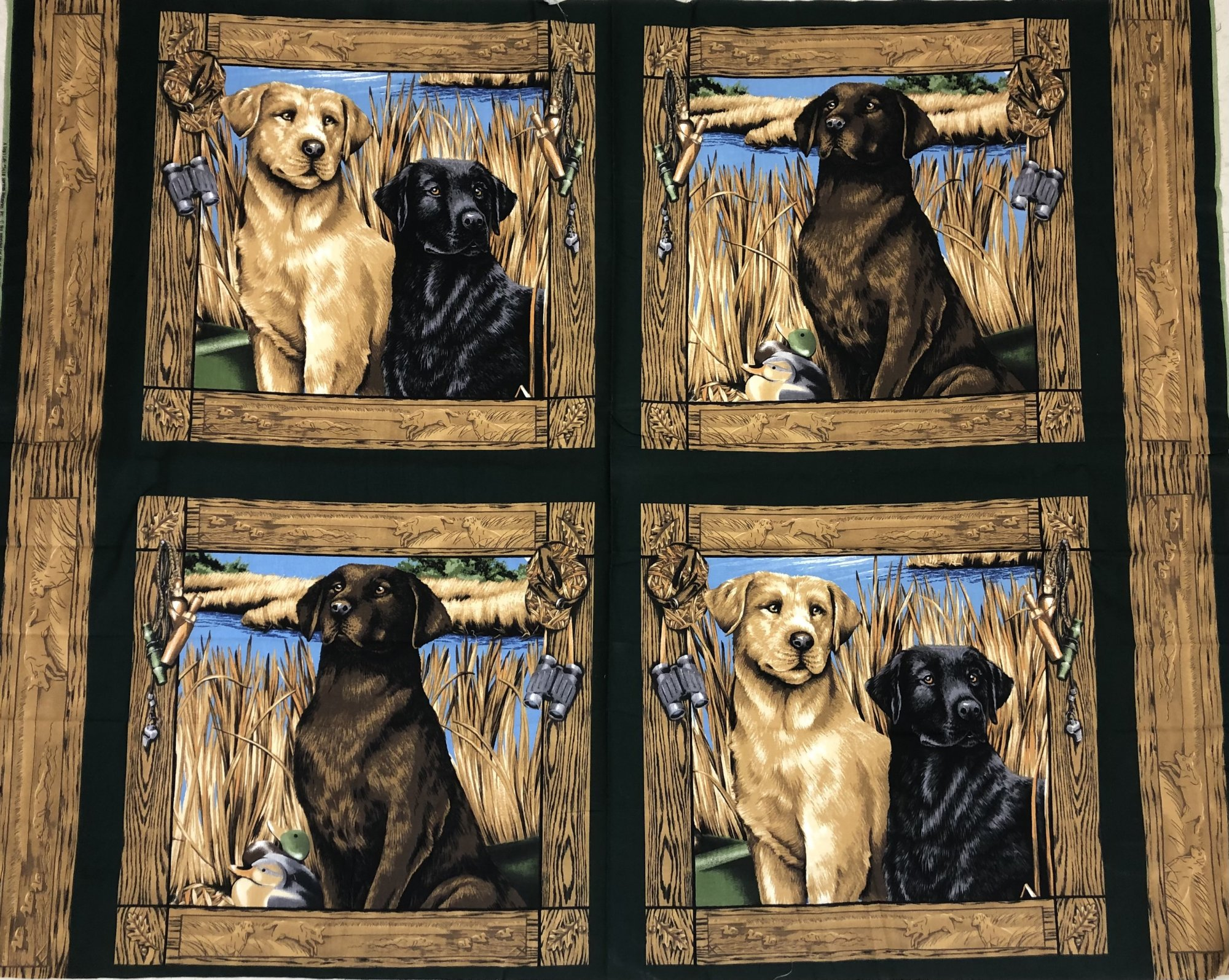Springs Industries - A Dog's Life - Retriever / Hunting Dog - 34 Panel