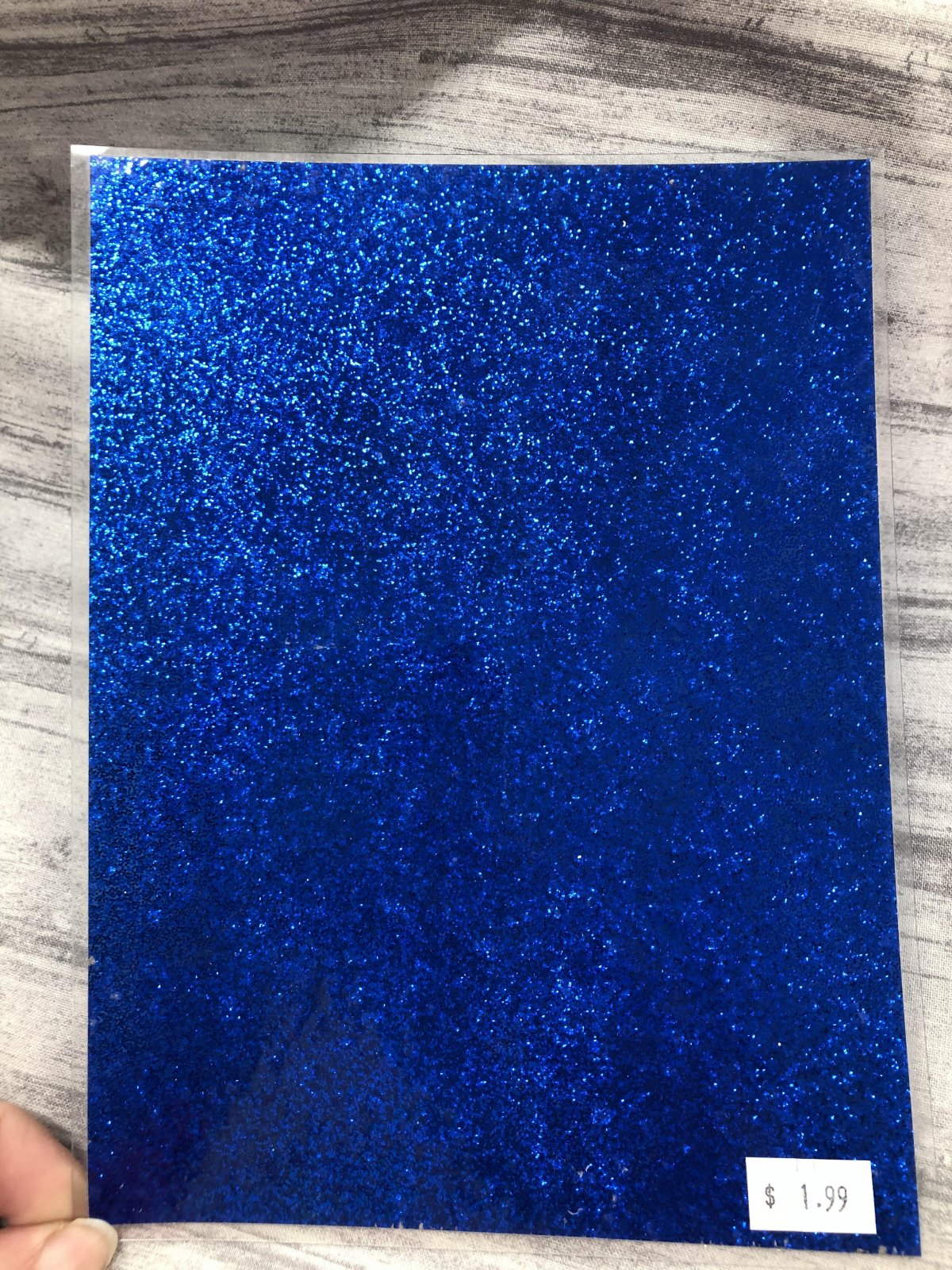 Stained Glass Acrylic Sheeting -Royal Blue Sparkle